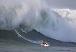 Mavericks waves in Half Moon Bay.