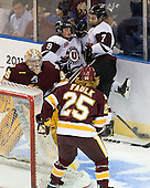Kenny Reiter (Duluth - 35), Daniel Carr (Union - 9), Josh Jooris (Union - 7), Justin Faulk (Duluth - 25) - The University of Minnesota-Duluth Bulldogs defeated the Union College Dutchmen 2-0 in their NCAA East Regional Semi-Final on Friday, March 25, 2011, at Webster Bank Arena at Harbor Yard in Bridgeport, Connecticut.