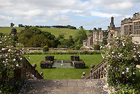 View of steps down to The Fountain Terrace at Haddon Hall
