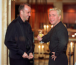 Ally McCoist with dodgy blonde highlights has a drink with Gary McAllister