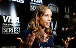 Women's 50m Hurdles, Lolo Jones, speaks during a USATF press conference in New York, United States. 27/01/2012. Photo by Kena Betancur / VIEWpress.