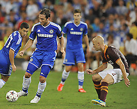 Frank Lampard (8) of Chelsea FC goes against Michael Bradley (4) of AS Roma.  Chelsea FC defeated AS Roma 2-1, during an international friendly , at RFK Stadium, Saturday August 10 , 2013.