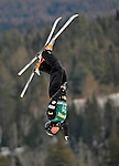 19 January 2008: Emily Cook from the USA takes a practice jump prior the FIS World Cup Freestyle Ladies' Aerial Competition at the MacKenzie Ski Jump Complex in Lake Placid, New York, USA...Mandatory Photo Credit: Ed Wolfstein Photo