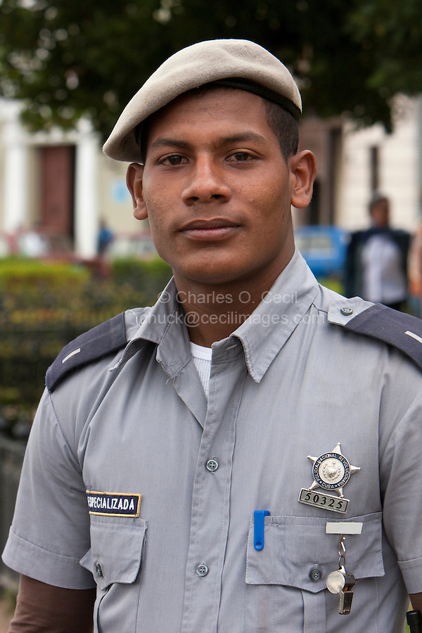 Cuba, Havana.  A Cuban Policeman.