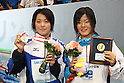 (L to R) .Miho Takahashi (JPN), .Miyu Otsuka (JPN), .APRIL 2, 2012 - Swimming : .JAPAN SWIM 2012 .Women's 400m Individual Medley Victory Ceremony .at Tatsumi International Swimming Pool, Tokyo, Japan. .(Photo by YUTAKA/AFLO SPORT) [1040]