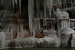 A frozen water source is seen in New York, United States. 23/01/2013 Photo by Kena Betancur/VIEWpress.