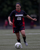 NC State forward Tanya Cain (25) dribbles. Boston College defeated North Carolina State,1-0, on Newton Campus Field, on October 23, 2011.