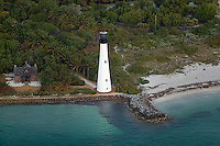 aerial photograph Cape Florida Lighthouse Bill Baggs State Park and Recreation Area Key Biscayne Florida