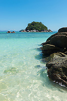 Turquoise water and rocks of Andaman sea on Ko Lipe, Thailand