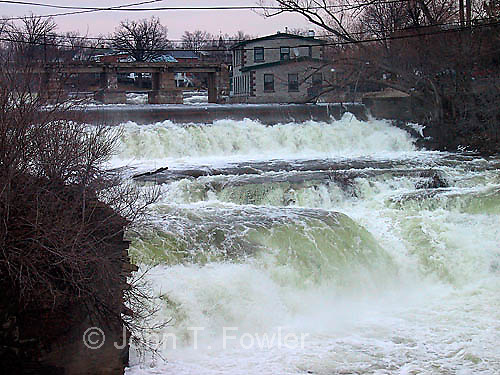 Waterfall Mississippi River, Ontario Canada flowing water pattern concept stream