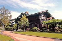 Greene & Greene: Blacker House. 3/4 SW elevation.  Photo '88.