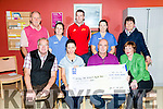 Cheque Presentation from John Miitchel's Strictly Come Dancing to Oncology Dept on Monday. Pictured front l-r Frank O'Donnell, Teresa Walsh, John O'Halloran Club treasurer Mitchel's, Mary Fitzgerald, Assistant Director of Nursing, Back l-r Mitchel's Chairman Denis Mannix, Sandra Murphy, Staff Nurse, David Leahy, Michelle Doolan staff Nurse, Theresa Deane PRO, John Michel's
