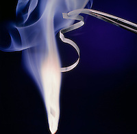 MAGNESIUM BURNING IN AIR: AN EXOTHERMIC REACTION<br />