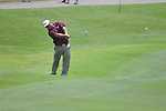 Kris Blanks hits on 18th hole at the PGA FedEx St. Jude Classic at TPC Southwind in Memphis, Tenn. on Thursday, June 9, 2011.