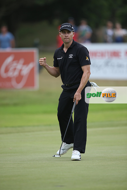 Trevor Fisher Jnr (RSA)  makes par on the 11th during the Final Round of the Africa Open 2015 at the East London Golf Club, East London, Eastern Cape, South Africa. Picture:  David Lloyd / www.golffile.ie. 08/03/2015
