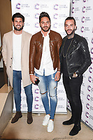 Dan Edgar, Mario Falcone and Pete Wicks arriving at James Ingham&rsquo;s Jog On to Cancer, in aid of Cancer Research UK at The Roof Gardens in Kensington, London.  <br /> 12 April  2017<br /> Picture: Steve Vas/Featureflash/SilverHub 0208 004 5359 sales@silverhubmedia.com