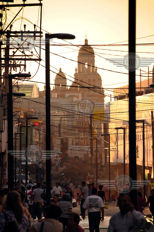 A view down a street in Culiacan... ..