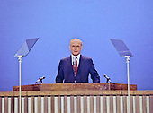 United States Senator John H. Glenn, Jr. (Democrat of Ohio) delivers the first Keynote Address at the opening session of the 1976 Democratic National Convention at Madison Square Garden in New York, New York on July 12, 1976.  At the time, Glenn was a serious contender to be Jimmy Carter's running mate..Credit: Arnie Sachs / CNP