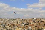 amman under jordan flag