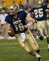 22 September 2007: Pitt quarterback Pat Bostick..The Connecticut Huskies defeated the Pitt Panthers 34-14 on September 22, 2007 at Heinz Field in Pittsburgh, Pennsylvania.