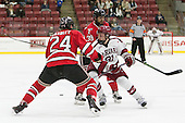 Chris Bradley (RPI - 24), Jake Horton (Harvard - 91), Alex Rodriguez (RPI - 39) - The Harvard University Crimson defeated the visiting Rensselaer Polytechnic Institute Engineers 5-2 in game 1 of their ECAC quarterfinal series on Friday, March 11, 2016, at Bright-Landry Hockey Center in Boston, Massachusetts.
