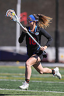 Towson, MD - March 5, 2017: Florida Gators Cara Trombetta (16) runs with the ball during game between Towson and Florida at  Minnegan Field at Johnny Unitas Stadium  in Towson, MD. March 5, 2017.  (Photo by Elliott Brown/Media Images International)