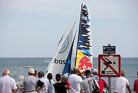 29th May  2010. Sete. France..The Red Bull Extreme Sailing team in action during the second days racing.  Skipper Roman Hagara(AUT).  Tactician Hans Peter Steinacher (AUT).Trimmer Gabriele Olivo (ITA) and Bowman David Vera San Luis (ESP).Mandatory credit: Lloyd Images