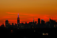 The Empire State Building is seen from the Arthur Ashe Stadium at the USTA Billie Jean King National Center during the US Open 2014 tennis tournament in New York.  08.29.2014. VIEWpress