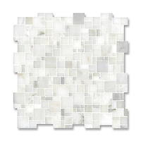 Mini Versailles shown in polished Calacatta Radiance is part of New Ravenna's Studio Line. All mosaics in this collection are ready to ship within 48 hours.<br />