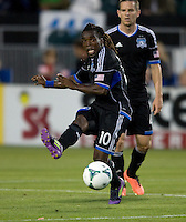 Walter Martinez of Earthquakes in action during the game against Rapids at Buck Shaw Stadium in Santa Clara, California on May 18th, 2013.  San Jose Earthquakes tied Colorado Rapids, 1-1.