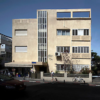 The Bauhaus style Efroni House at 95 Ahad Haamat Street built by architect Shlomo Bernstein in 1937. Tel Aviv is known as the White City in reference to its collection of 4,000 Bauhaus style buildings, the largest number in any city in the world. In 2003 the Bauhaus neighbourhoods of Tel Aviv were placed on the UNESCO World Heritage List. .