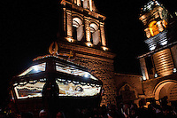 Procession of the Holy Sepulture during Holy Week in Ayacucho, Peru.