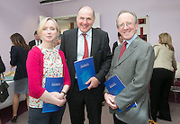 ***NO FEE PIC ***<br /> 11/06/2014<br /> (L to R) Rose Wall, Edward Gleeson &amp; <br /> Gerry Whyte during The Mercy Law Resource Centre's Annual Report for 2013 at Sophia Housing on Cork Street, Dublin.<br /> Photo:  Gareth Chaney Collins