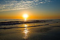 Spectacular sunset on one of the wonderful California Beaches in the San Diego area.