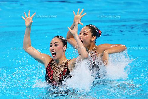 Yukiko Inui & Risako Mitsui (JPN), JULY 30, 2015 - Synchronised Swimming : 16th FINA World Championships Kazan 2015 Duets Free Routine Final at Kazan Arena in Kazan, Russia. (Photo by Yohei Osada/AFLO SPORT)