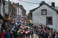 peloton up the iconic C&ocirc;te de Saint-Roch / Houffalize<br /> <br /> 103rd Li&egrave;ge-Bastogne-Li&egrave;ge 2017 (1.UWT)<br /> One Day Race: Li&egrave;ge &rsaquo; Ans (258km)