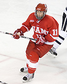 Carter Camper (Miami - 11) - The Miami University Redhawks and University of New Hampshire Wildcats played to a 5-5 tie on Saturday, October 17, 2009, at the Whittemore Center in Durham, New Hampshire.