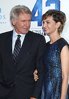 """Harrison Ford & Calista Flockhart attend the premiere of  """" Pictures 42 """""""