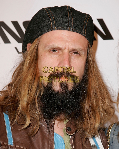 "ROB ZOMBIE.attends Dimension Films' World Premiere of ""Sin City"" held at The Mann National Theater in Westwood, California, USA, on March 28th 2005..portrait headshot hat beard facial hair long hair.Ref: DVS.www.capitalpictures.com.sales@capitalpictures.com.©Debbie VanStory/Capital Pictures"