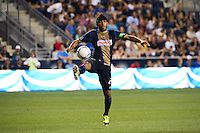 Carlos Valdes (2) of the Philadelphia Union. Sporting Kansas City defeated the Philadelphia Union 2-0 during the semifinals of the 2012 Lamar Hunt US Open Cup at PPL Park in Chester, PA, on July 11, 2012.