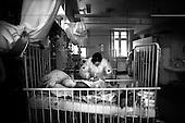 Wroclaw 02.02.2007 Poland.<br /> Clinical Hospital, oncology and haematology departmend. This is one of the important Haematologic Hospital in all over Poland, however hospital board stopped to discharge a rising debt. In this connection authorities must close hospital, but goverment had no idea what should do with terminaly ill children.<br /> (Photo: Adam Lach / Napo Images)<br /> <br /> Akedemicki Szpital Kliniczny, oddzial onkologii i hematologii. Temu jednemu z najwazniejszych w Polsce osrodkowi szpitalnemu grozi zamkniecie w powodu dlugow, ktore niezaleznie od wplat NFZ-tu regularnie sciaga komornik. Z calej Polski ludzie charytatywnie wplacaja pieniadze by uratowac szpital i los dzieci dla ktorych to miejsce jest jedynym ratunkiem.
