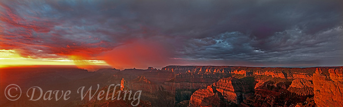 935000007 sunrise storms and heavy cloud cover over mount hayden at point imperial in this panoramic view at the north rim of the grand canyon in arizona united states