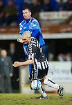 St Johnstone v St Mirren....22.01.11  .Jim Goodwin stops Peter MacDonald.Picture by Graeme Hart..Copyright Perthshire Picture Agency.Tel: 01738 623350  Mobile: 07990 594431
