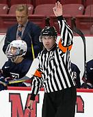 Marty Hughes - The Harvard University Crimson defeated the US National Team Development Program's Under-18 team 5-2 on Saturday, October 8, 2016, at the Bright-Landry Hockey Center in Boston, Massachusetts.