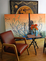 &quot;This is a sitting area of my studio with a a couple of older works, one from<br />