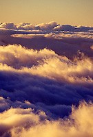 Sunset clouds as seen from Haleakala crater, Maui