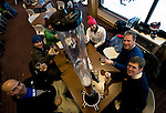 Visitors from the U.S. enjoy a drink after skiing at  Hanazono ski ground in Niseko, northern Japan on Feb. 6 2010. Niseko is the only ski resort area in Japan where off-piste skiing can be legally enjoyed.