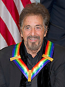 Actor Al Pacino, one of the five recipients of the 39th Annual Kennedy Center Honors poses for a group photo following a dinner hosted by United States Secretary of State John F. Kerry in their honor at the U.S. Department of State in Washington, D.C. on Saturday, December 3, 2016.  The 2016 honorees are: Argentine pianist Martha Argerich; rock band the Eagles; screen and stage actor Al Pacino; gospel and blues singer Mavis Staples; and musician James Taylor.<br /> Credit: Ron Sachs / Pool via CNP
