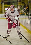 24 November 2013: University of Massachusetts Minutemen Forward Ray Pigozzi, a Freshman from Evanston, IL, in action against the University of Vermont Catamounts at Gutterson Fieldhouse in Burlington, Vermont. The Cats shut out the Minutemen 2-0 to sweep the 2-game home-and-away weekend Hockey East Series. Mandatory Credit: Ed Wolfstein Photo *** RAW (NEF) Image File Available ***