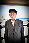 Photo of an old man in Amalfi, Italy.